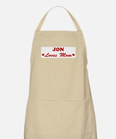 JON loves mom BBQ Apron