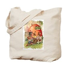 Vintage Cartoon Knitter's Tote Bag