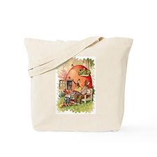 Vintage Cartoon Knitter's Tote Bag