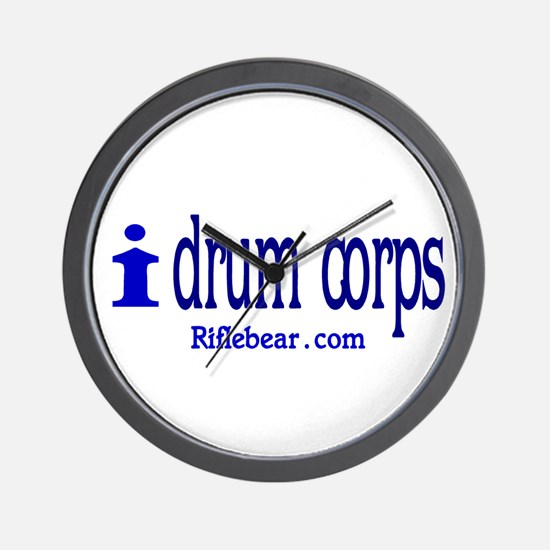 i drum corps Wall Clock