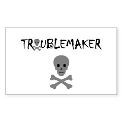 TROUBLEMAKER Rectangle Sticker 50 pk)