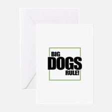 Big Dogs Rule logo Greeting Cards (Pk of 10)