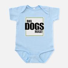 Big Dogs Rule logo Infant Creeper