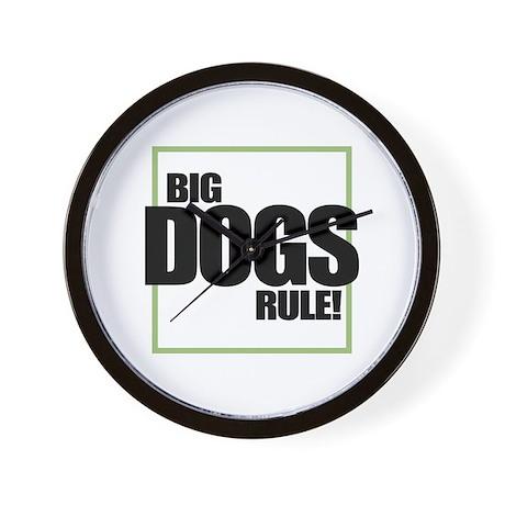 Big Dogs Rule logo Wall Clock