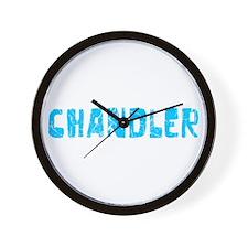 Chandler Faded (Blue) Wall Clock
