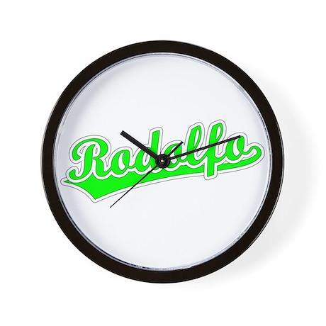 Retro Rodolfo (Green) Wall Clock