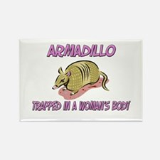 Armadillo Trapped In A Woman's Body Rectangle Magn