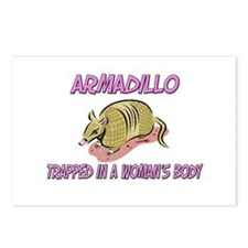 Armadillo Trapped In A Woman's Body Postcards (Pac