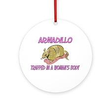 Armadillo Trapped In A Woman's Body Ornament (Roun
