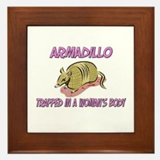 Armadillo Trapped In A Woman's Body Framed Tile