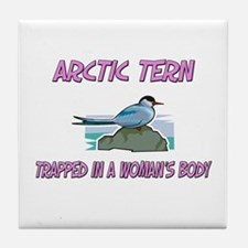 Arctic Tern Trapped In A Woman's Body Tile Coaster