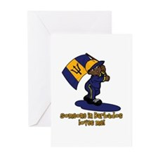 Someone in Barbados loves me Greeting Cards (Pk of