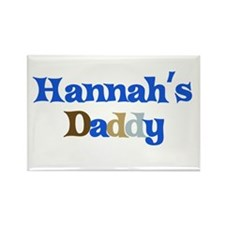 Hannah's Daddy Rectangle Magnet