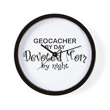 Geocacher Devoted Mom Wall Clock