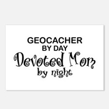 Geocacher Devoted Mom Postcards (Package of 8)