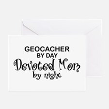 Geocacher Devoted Mom Greeting Cards (Pk of 10)