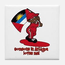 Someone in Antigua loves me! Tile Coaster