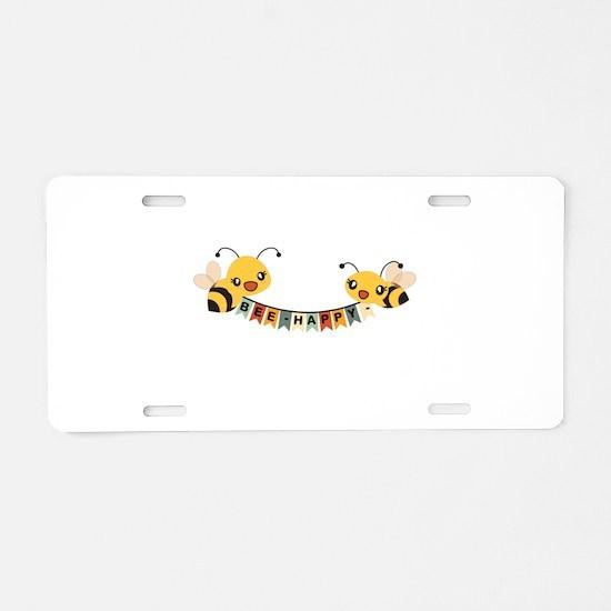 Custom Text Bees Bunting Banner Aluminum License P