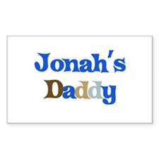 Jonah's Daddy Rectangle Decal