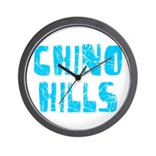 Chino Hills Faded (Blue) Wall Clock