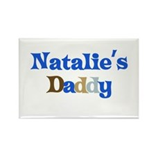Natalie's Daddy Rectangle Magnet