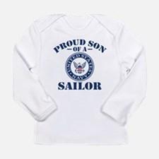 Proud Son Of A US Navy Long Sleeve Infant T-Shirt