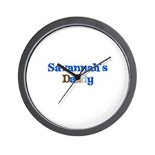 Savannah's Daddy Wall Clock