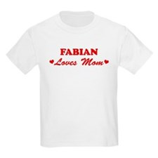 FABIAN loves mom T-Shirt