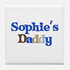Sophie's Daddy Tile Coaster