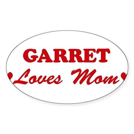 GARRET loves mom Oval Sticker