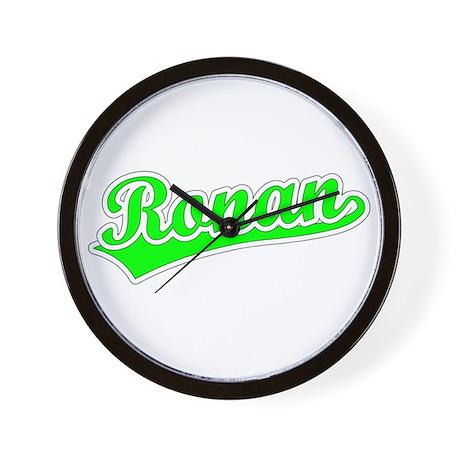 Retro Ronan (Green) Wall Clock