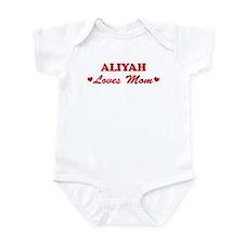 ALIYAH loves mom Infant Bodysuit