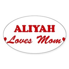 ALIYAH loves mom Oval Decal