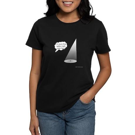 Where's The Spike Mark? Women's Dark T-Shirt