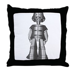 Metallic Robot Throw Pillow