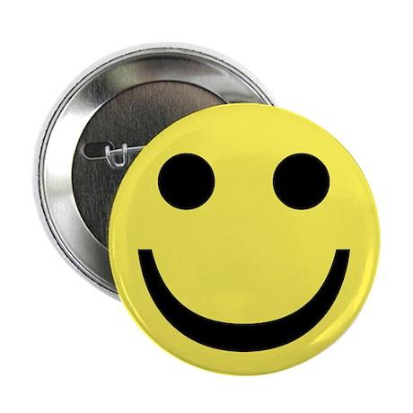 """Smiley Face 2.25"""" Button"""