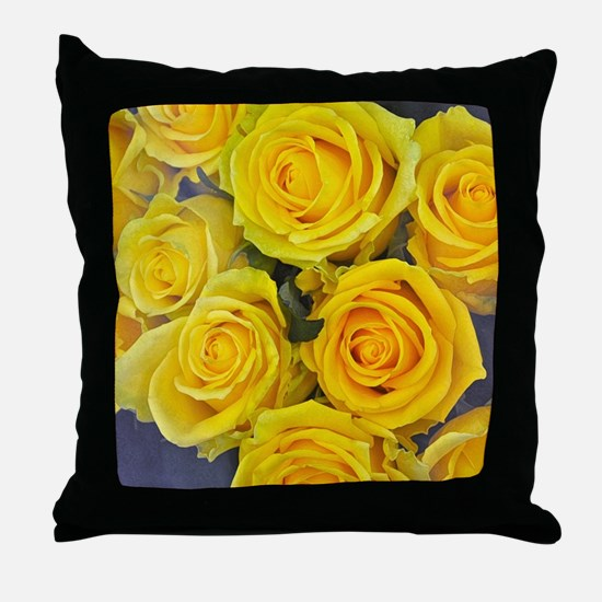 Beautiful yellow roses Throw Pillow