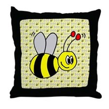 Bumble Bees Throw Pillow