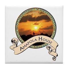 Amapola House in Rincon, PR Tile Coaster