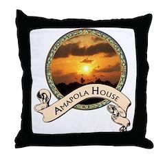 Amapola House in Rincon, PR Throw Pillow