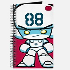 White Robot 88 on Red Journal