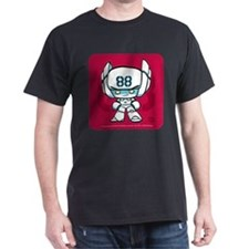 White Robot 88 on Red on T-Shirt