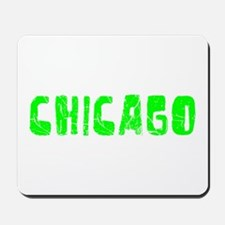 Chicago Faded (Green) Mousepad
