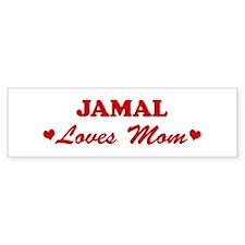 JAMAL loves mom Bumper Bumper Sticker