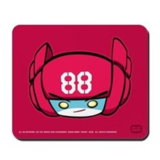 Red Robot 88 on Red Mousepad