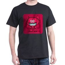 Red Robot 88 on Red on T-Shirt