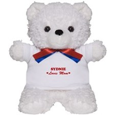 SYDNIE loves mom Teddy Bear