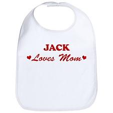 JACK loves mom Bib