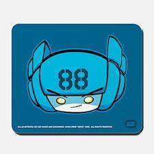 Blue Robot 88 on Blue Mousepad