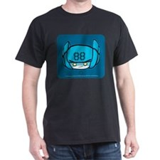 Blue Robot 88 on Blue on T-Shirt